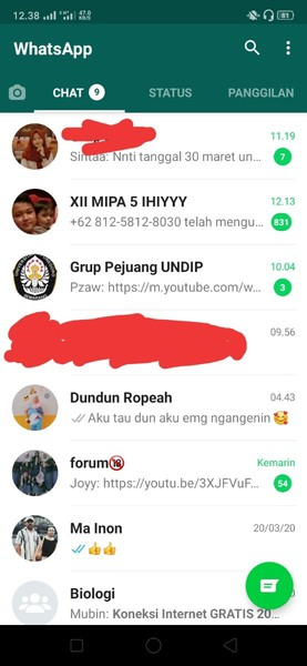 Pap chat teratas di Watshap