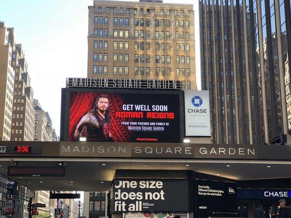 NEWS  Na MSG w Nowym Jorku wyświetlono poniższy telebim