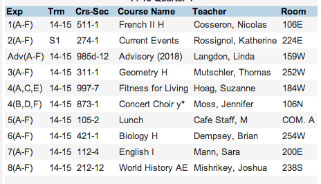 bro whats your schedule