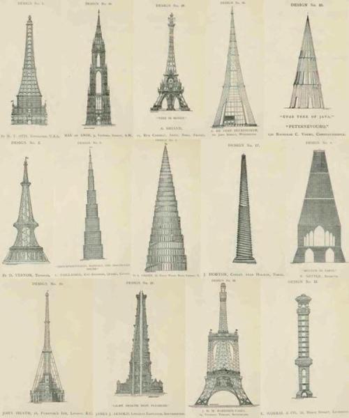 تصاميم مختلفة لبرج ايفل تم رفضها