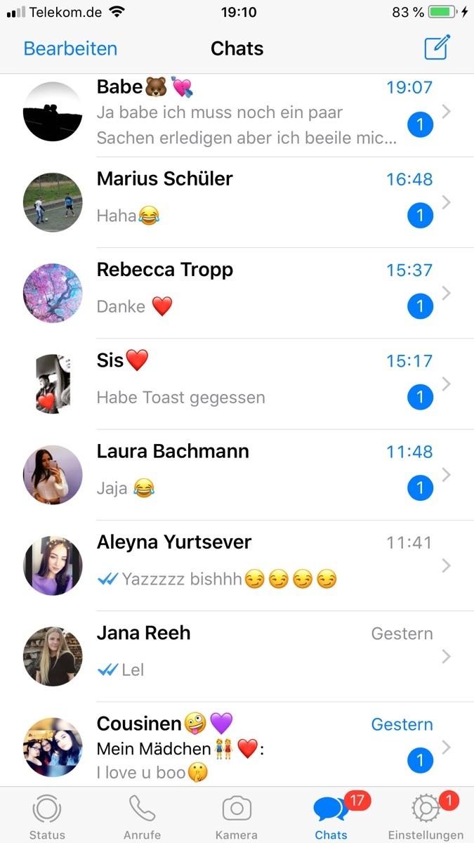 Chatverlauf kennenlernen