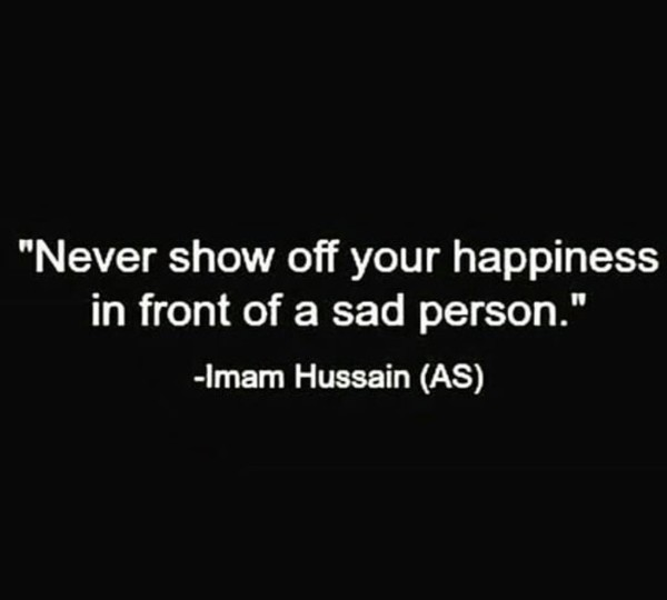 Post a saying of Imam Hussain AS