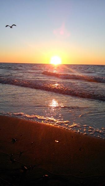 Fotka dzisiejszego zachodu słońca Amoże wczorajszego zachodu