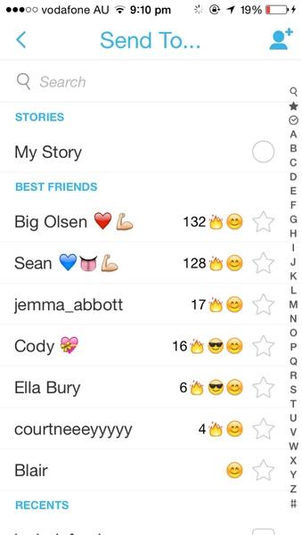 Screenshot snap chat best friends
