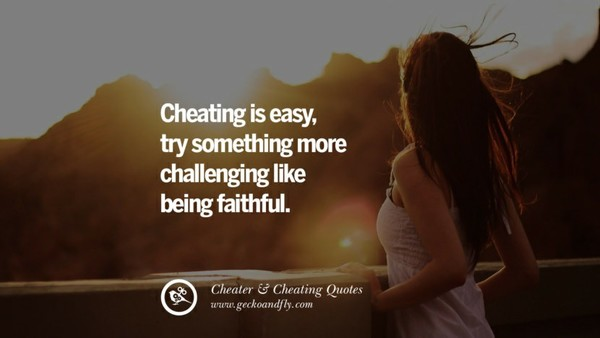 Have you ever cheated