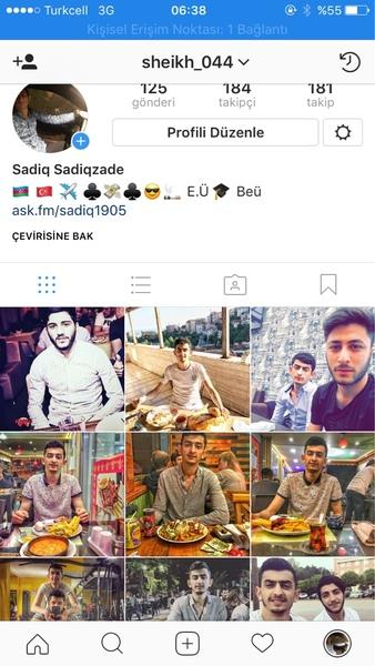 Instagram screen lutfen