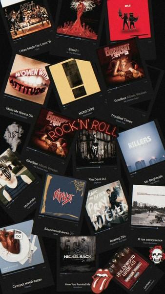 Картинка а стиле  рок