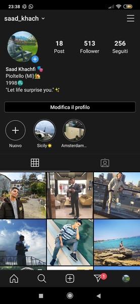 Screen profilo Instagram