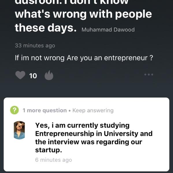Ab ye tj kahay ga k eishah say baat krwa dow  ya nae sorry mein entrepreneur hu