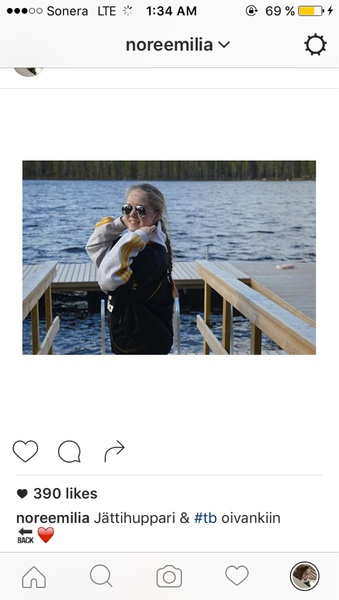 Lähetä tykätyin Instagram tai Facebookkuvasi