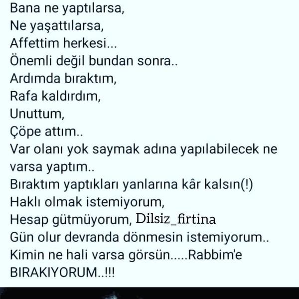 BIRAKIYORUM
