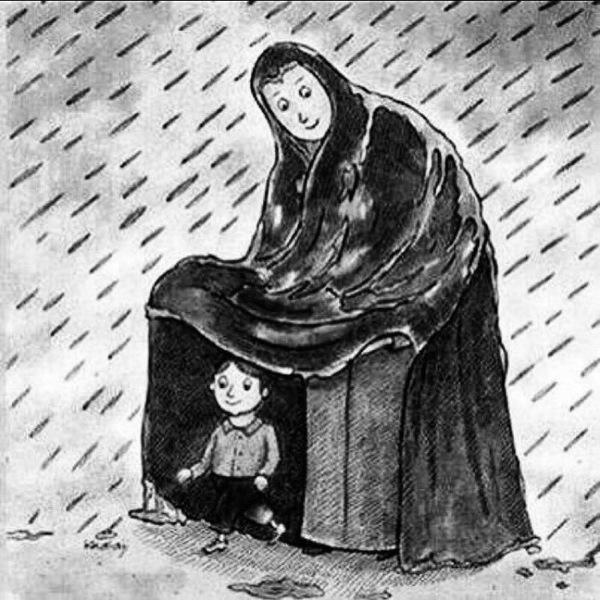 الأم تخاف علينا من الحياه ولا تدري كم نحن نخاف الحياه من دونها  اللهم ياخالق