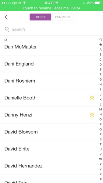 Pap snapchhat contacts start with D