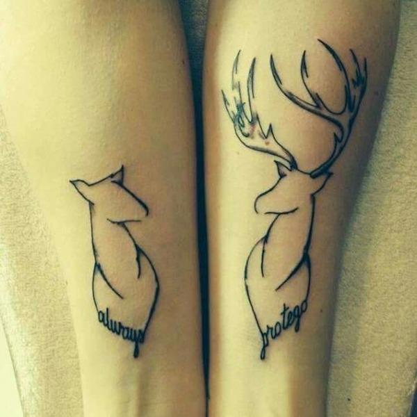 tatouage de couple sur les côtes pour moi