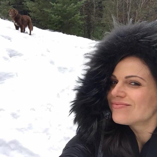Tem foto dela na neve