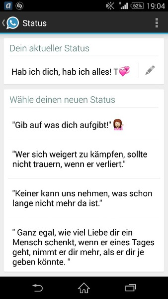 Status liebes whatsapp Liebes Status