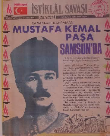 19 Mayıs Atatürkü Anma Gençlik ve Spor Bayramımız Kutlu Olsun