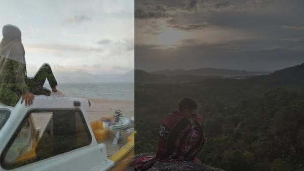 Gunung  atau Pantai