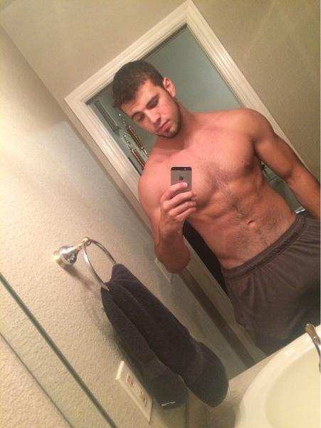 Shirtless selfie