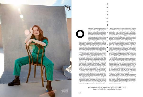 Madelaine w Elle Magazine USA