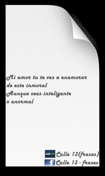 Calle 13 Frases Calle13frases Likes Askfm