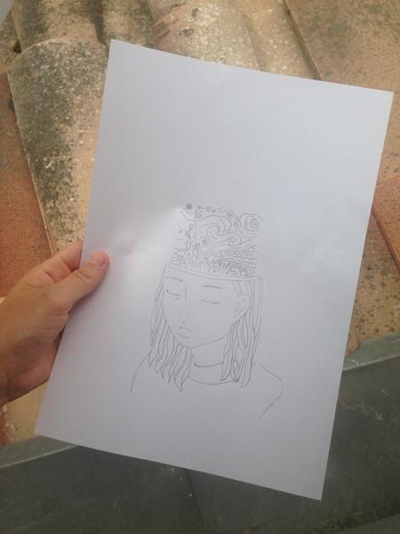 jai passée des heures et des heures à faire ce putain de dessin je suis