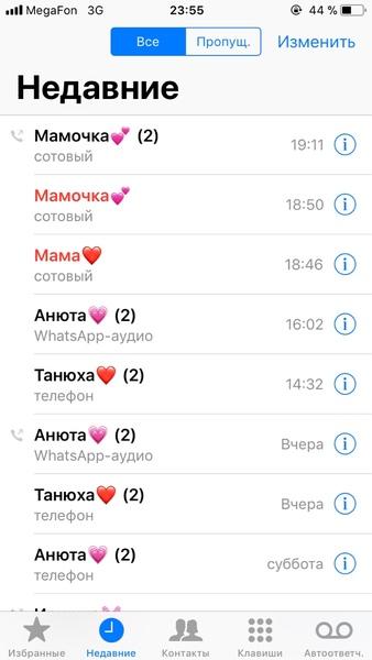 С кем ты говоришь по телефону чаще всего