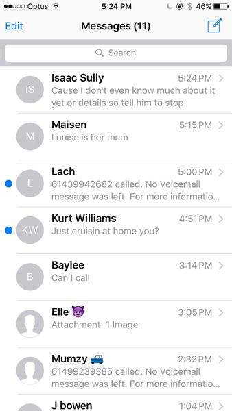 Texts please xx