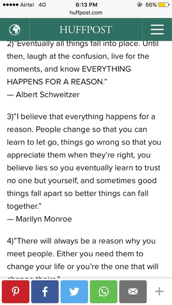 I believe that everything happens for a reason People change so that you can