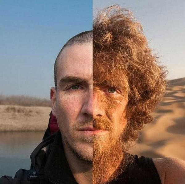 المغامر الألماني كريستوف ريهاج    قبل و بعد أن سار لمدة عام عبر الصين سيرا