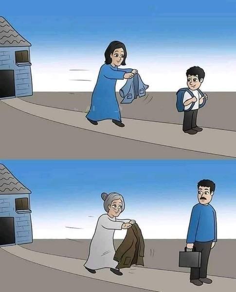 كل شي يتغير حولك الا قلب امك فيارب بعدد دقات قلبي احفظ لي أمي