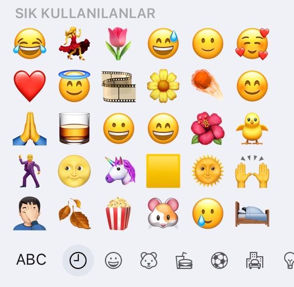 En çok kullandığınız emojiler hangileri