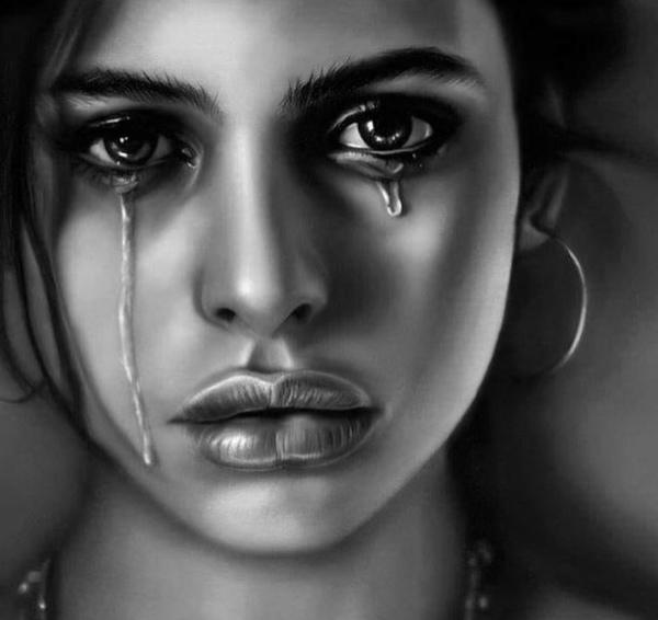 Jeder ihrer Tränen kehrt zu dir zurück so pass auf wie du sie behandelst