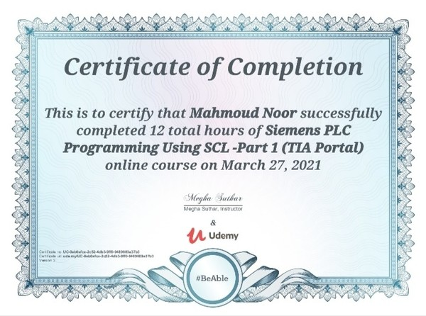 My First Certified  SCL