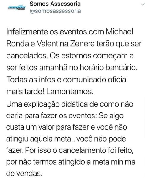 Spotkanie z Valentiną i Michaelem które miało się odbyć w Brazylii zostało