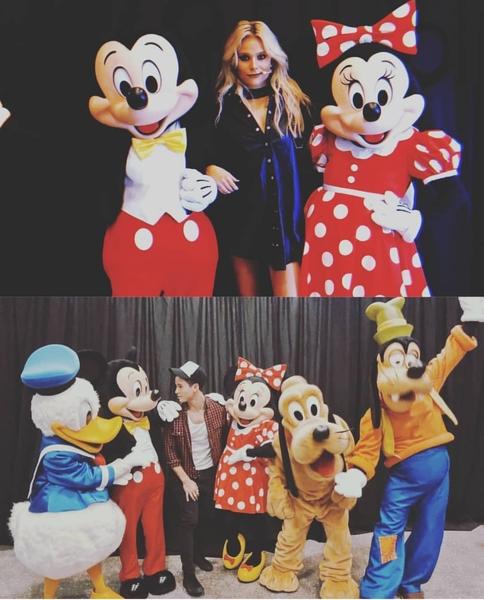 Valentina i Mike wczoraj po koncercie z Myszką Mickey i przyjaciółmi