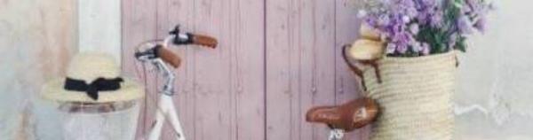 White Purple Wood Door