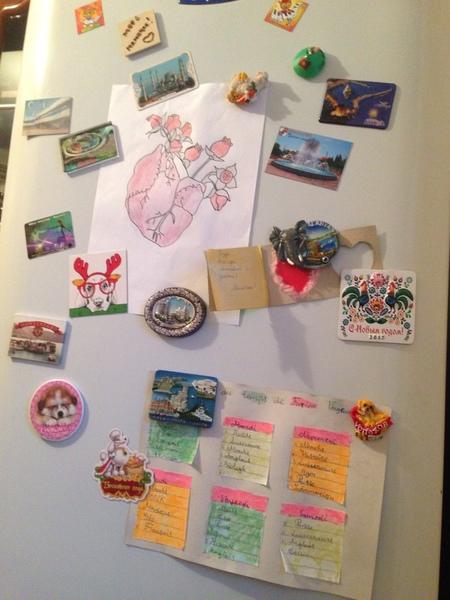 Много ли у тебя магнитиков на холодильнике Выложи фото