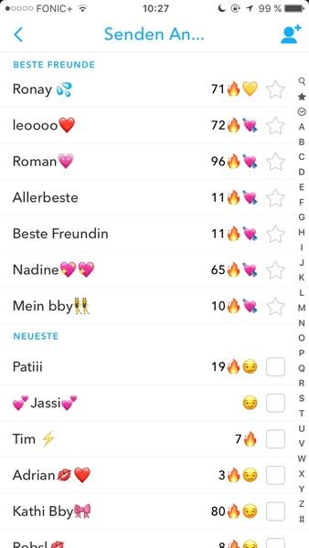 Snapchat Beste Freunde