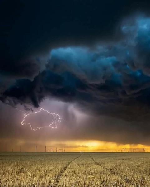 لقطة تكاد تحبس الأنفاس تظهر في سماء تكساس