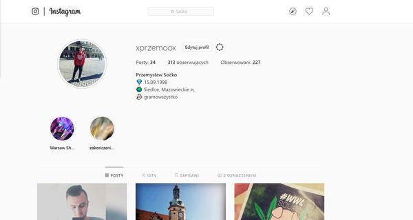 Masz konto na Instagramie