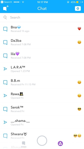 P snap chat Messages AA