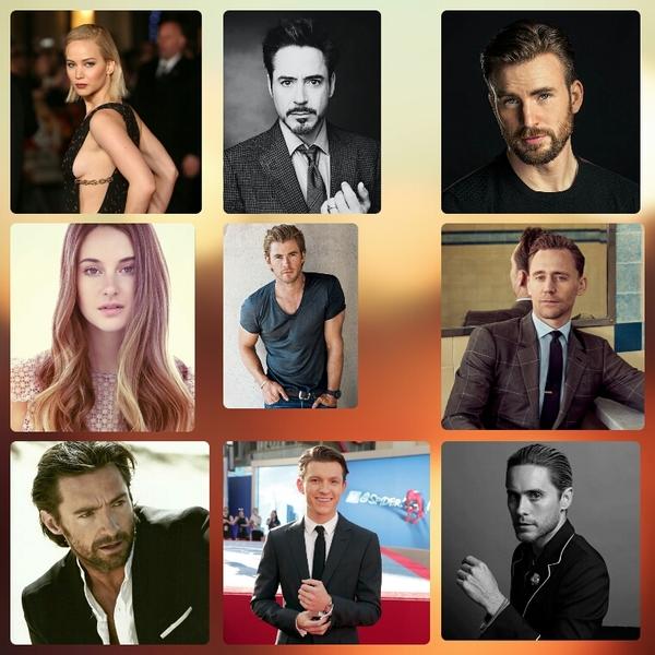 Какие у тебя любимые актёры
