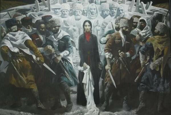 في بلاد القوقاز كانت المرأة تستطيع إيقاف المعركة بمجرد رمي شال رأسها أمام