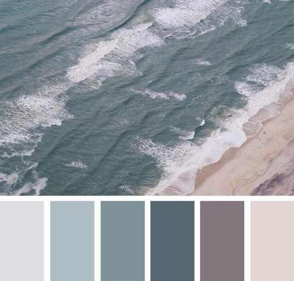 درجات لون البحر