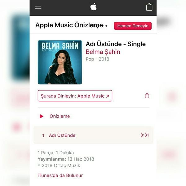 Ortaç müzik sunar Belma şahin adı üstünde single albümü iTunes müzikte