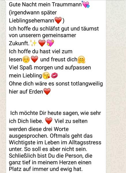 Texte ich liebe lang dich Hans