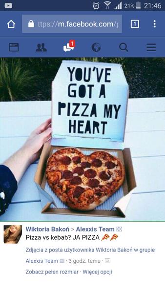 Kocham pizzę  zdjęcie   z neta
