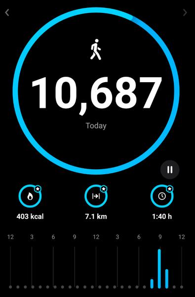 مساء الخير     خلاص اعتدمنا كل يوم نمشي ساعتين     10687   خطوة