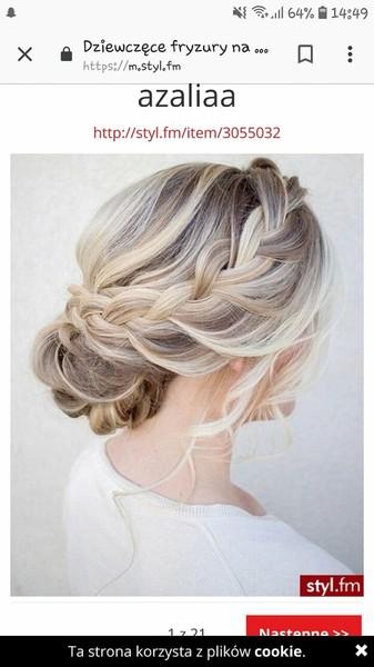 Fryzura która byś sobie zrobiła na wesele to  Zdjęcie poproszę    Nie musi to